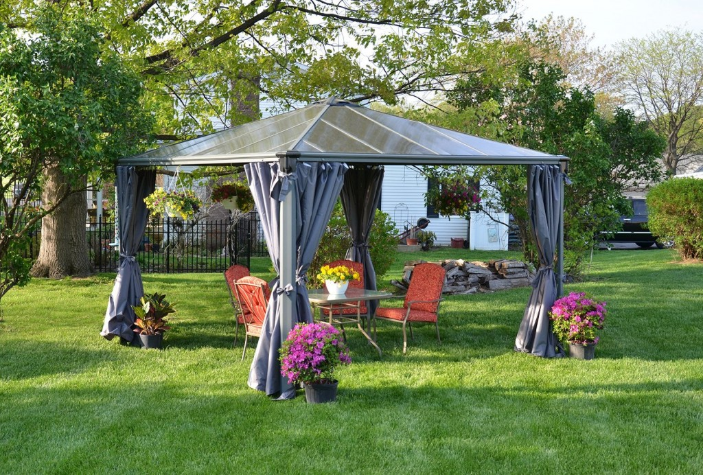 Hardtop gazebos best 2018 choices sorted by size for Abri mural hardtop gazebo