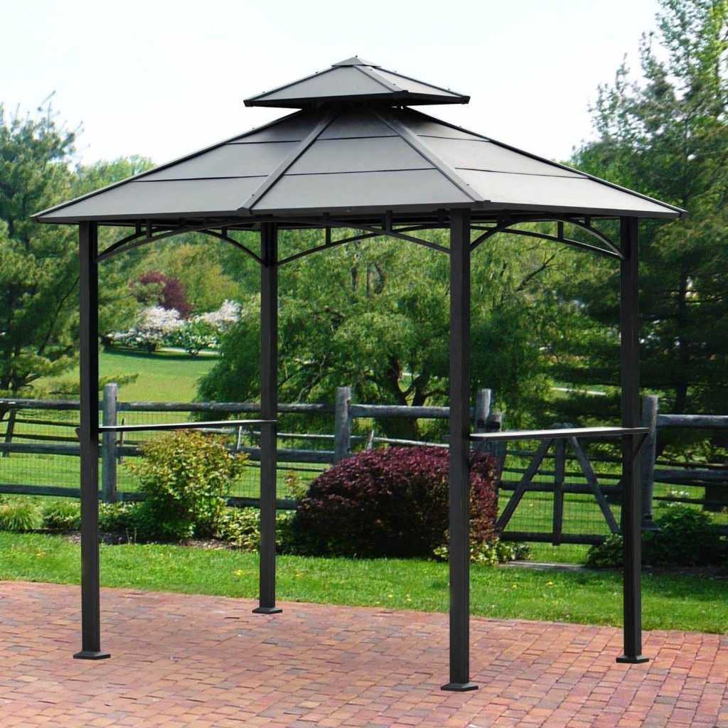 product qvc shelter sun metal page uk awning gazebo bbq framed with