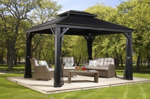 Messina 12 X16 Charcoal Gazebo Review 187 Best Hardtop Gazebos