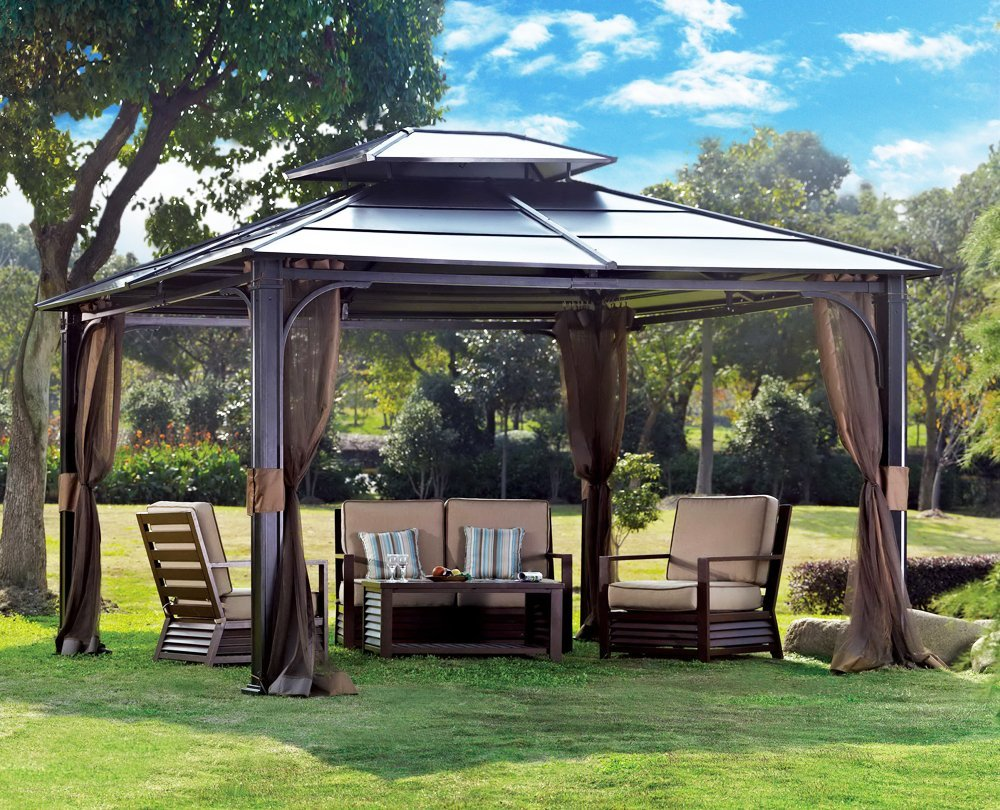 How much room you should expect to have! & Full Chatham Steel Gazebo Review » Best Hardtop Gazebos