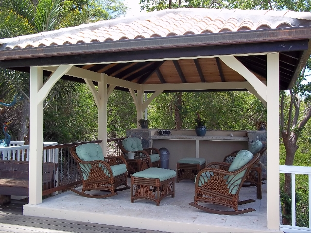 hardtop gazebo furniture