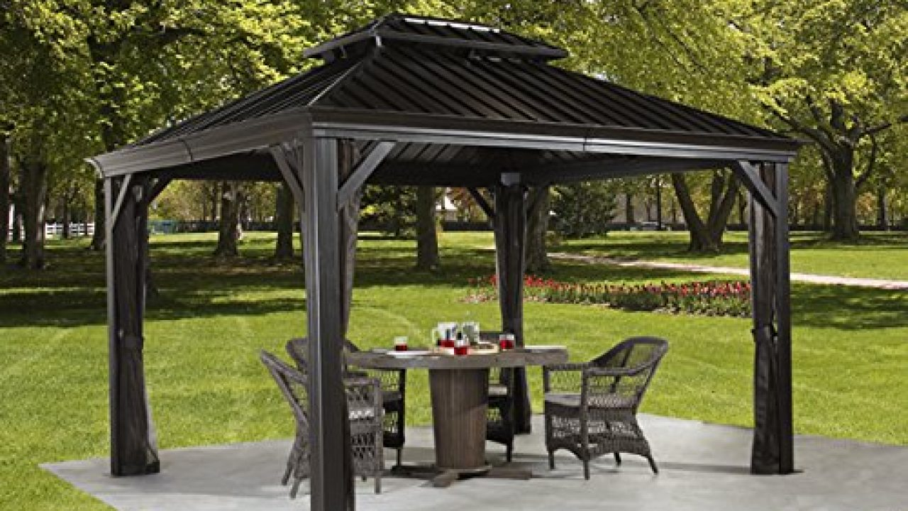 Review: Messina 10' x 12' Gazebo » Best Hardtop Gazebos