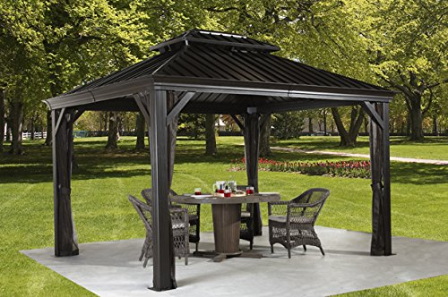 Review messina 10 39 x 12 39 gazebo best hardtop gazebos for Abri soleil mural toit rigide