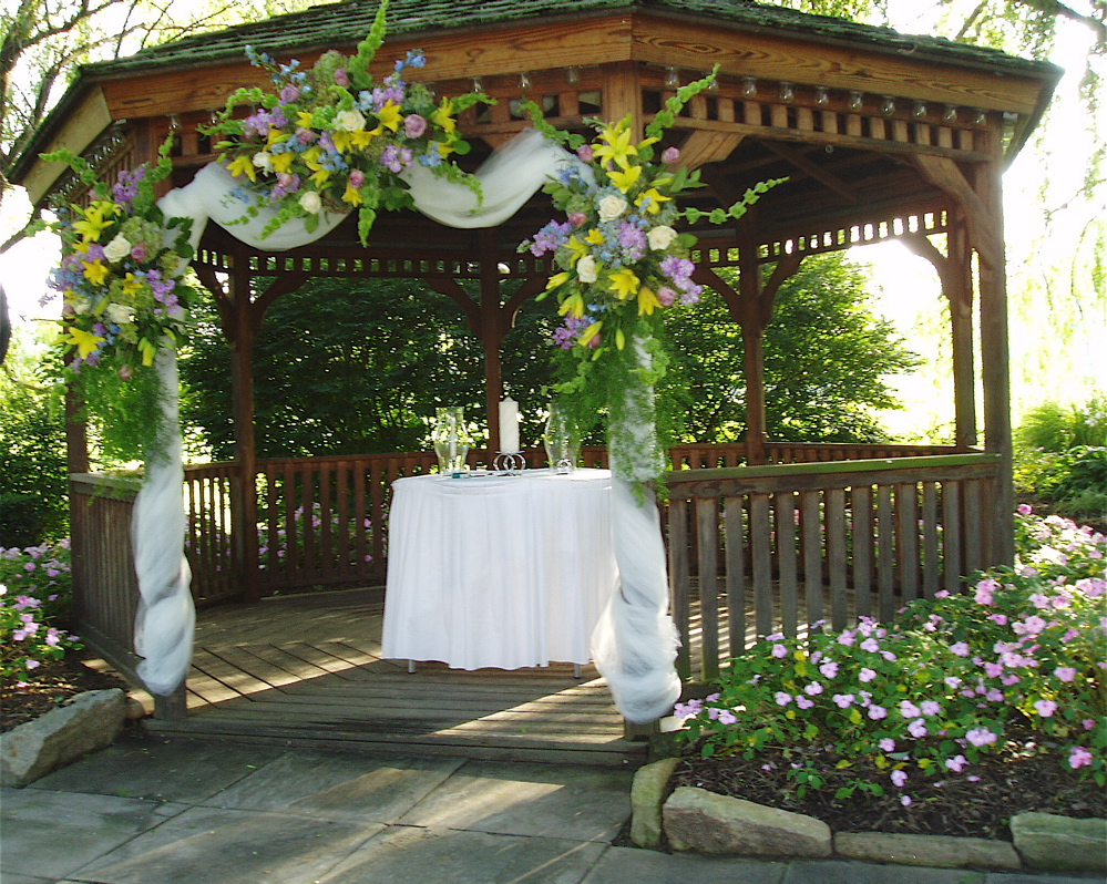 A beautifully-decorated gazebo!