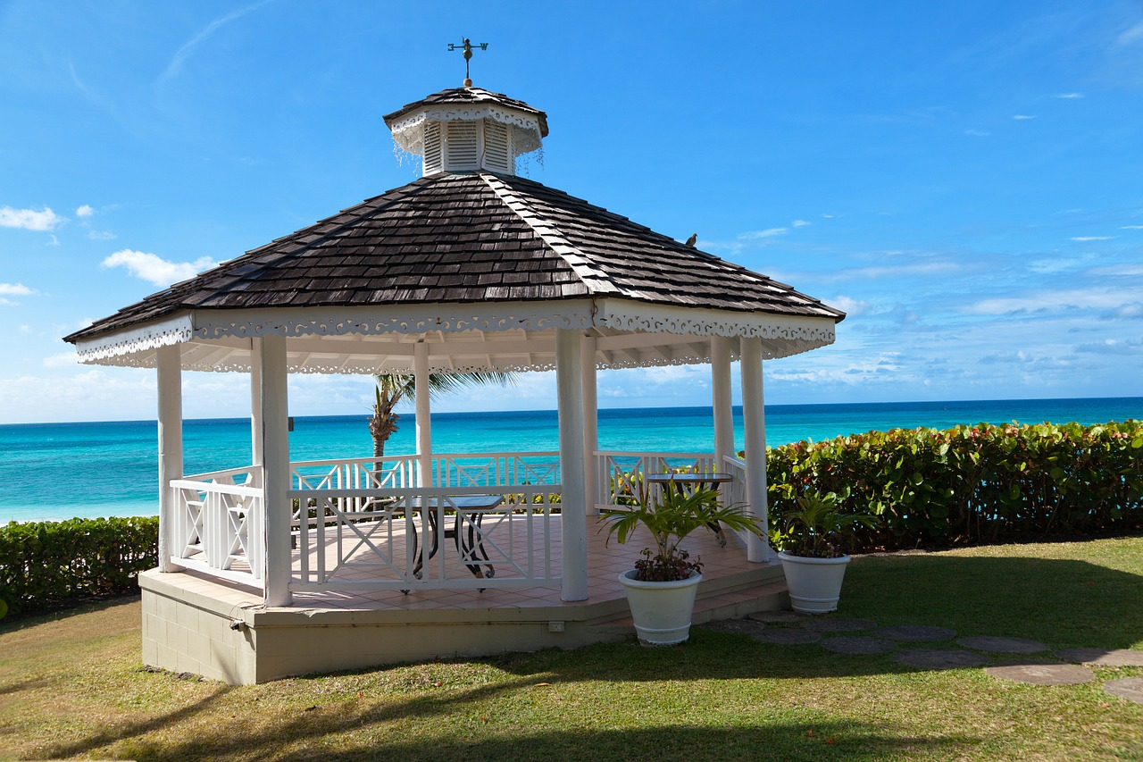 beautiful gazebo by the sea with the best gazebo canopy