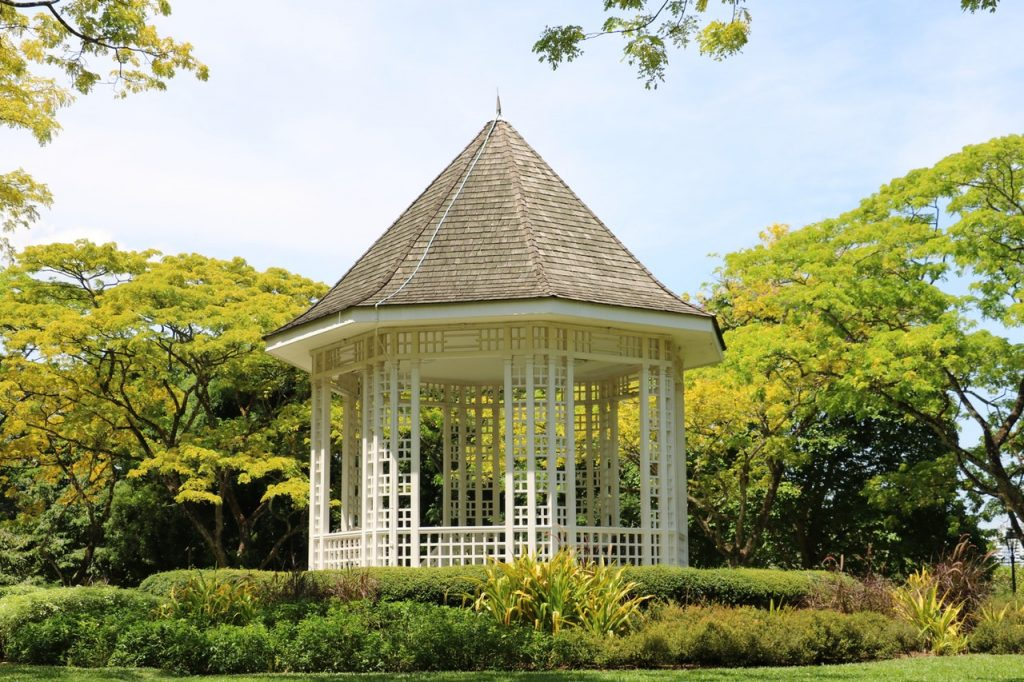 you can make a screened gazebo by adding screening to an existing structure