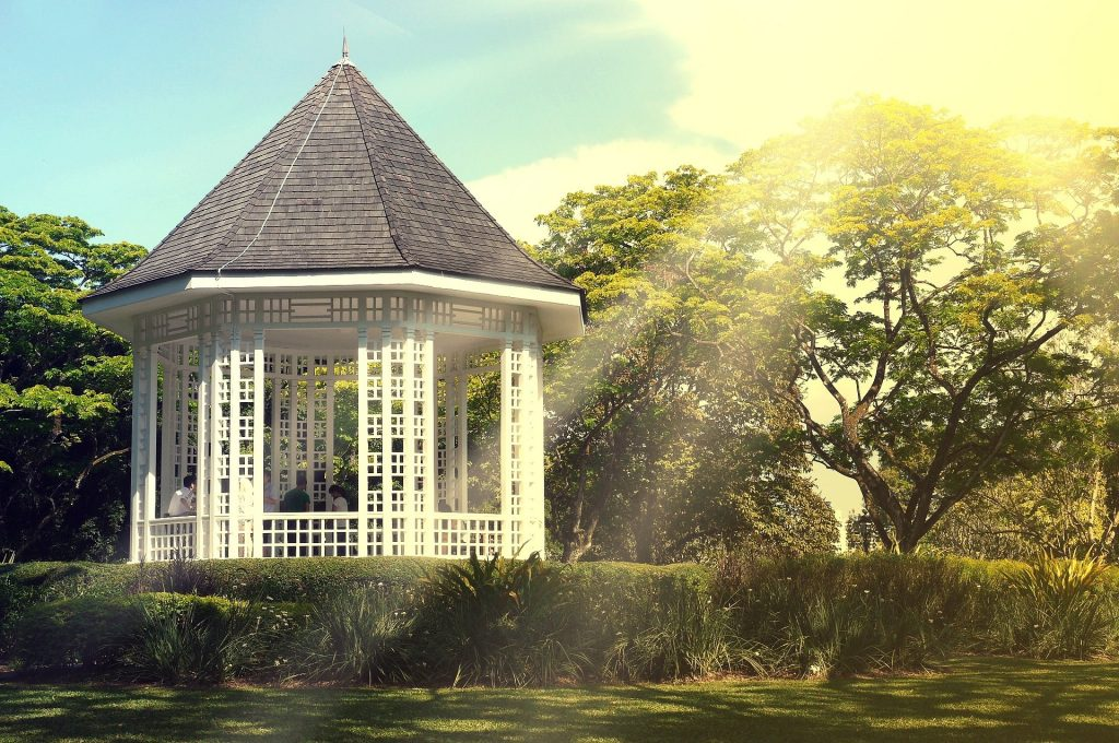 A gazebo that needs our spring gazebo tips to prepare for warmer weather.